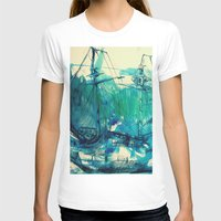 ship T-shirts featuring Ship by Hilary Dow