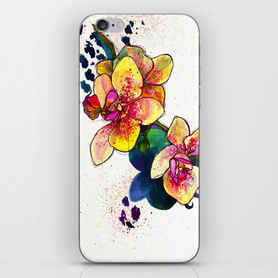 Inky Orchid iPhone & iPod Skin