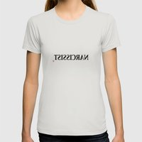 Narcissist Womens Fitted Tee Silver SMALL