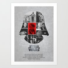 A New Hope COLLAGE variation Art Print