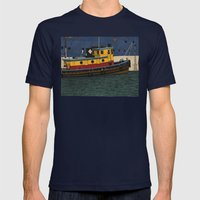Tug Mens Fitted Tee Navy SMALL