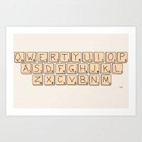 Qwerty Scrabble  Art Print