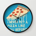 Sweet Pizza Wall Clock