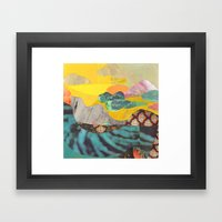 Yellow Sky Framed Art Print