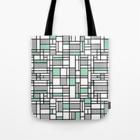 Map Lines Mint Tote Bag