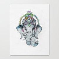 Ganesha Watercolor Canvas Print