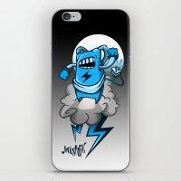 StormBot - Blue Robot iPhone & iPod Skin