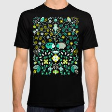 Hedgehog Lovers Mens Fitted Tee Black SMALL