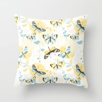 Butterflies In The Garde… Throw Pillow