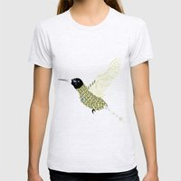 Abstract Hummingbird Womens Fitted Tee Ash Grey SMALL