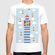 de madrid al cielo SMALL Mens Fitted Tee White
