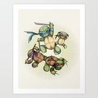 TEENAGE MUTANT NINJA PLUSHIES Art Print