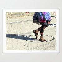 Dancing (Hula Hoop Serie… Art Print