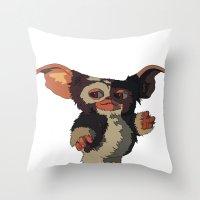 Gizmo, Gremlin color Throw Pillow