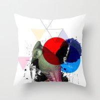 Bird Colours Throw Pillow