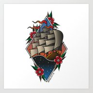 Art Print featuring Clipper by Royal Coffin