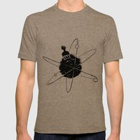 Frotoon Afro-Nucleus Mens Fitted Tee Tri-Coffee SMALL