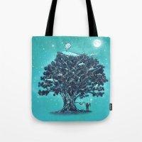 Deep Tree Diving  Tote Bag