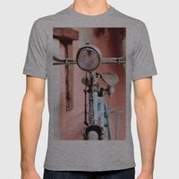 Vintage bicycle Mens Fitted Tee Athletic Grey SMALL