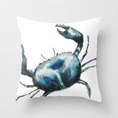 Crab -watercolor Throw Pillow