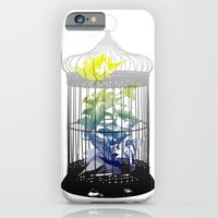 Green Finches iPhone 6 Slim Case