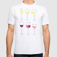 Wine Collection Mens Fitted Tee Ash Grey SMALL