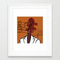 Music In My Head Framed Art Print