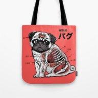 Pug Anatomy Tote Bag