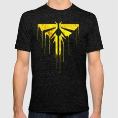 The Last Of Us Fireflies… Mens Fitted Tee Tri-Black SMALL
