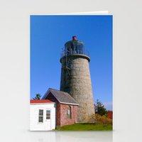Monhegan Island Lighthou… Stationery Cards