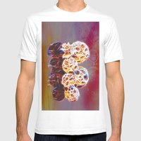 Balls and Cones  Abstract Mens Fitted Tee White SMALL