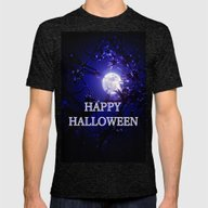 HALLOWEEN Mens Fitted Tee Tri-Black SMALL