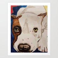 Pit Bull Portrait Art Print