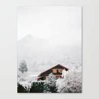 Annecy Under The Snow - … Canvas Print