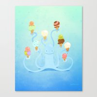 Ice Cream Power Canvas Print