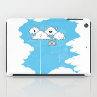 Young Clouds fooling around iPad Case