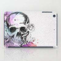 Skull flowers iPad Case