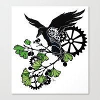 Raven and Ginkgo - Summer Cycle Canvas Print