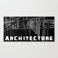 Architecture - Black Canvas Print