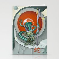 Astro Zodiac Force 06: Snake Stationery Cards