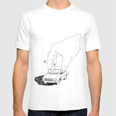 Driving home SMALL White Mens Fitted Tee