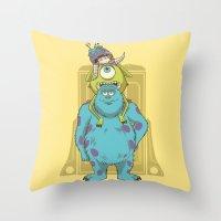 Monster Inc. Throw Pillow