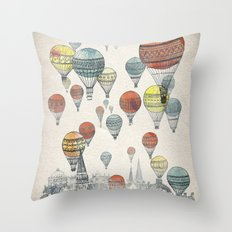 Voyages Over Edinburgh Throw Pillow