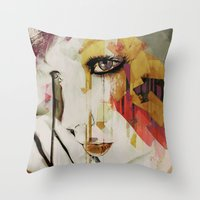 Pages Abstract Portrait Throw Pillow