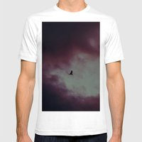 Dark Clouds Mens Fitted Tee White SMALL
