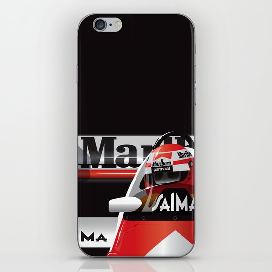 Niki Lauda, McLaren MP4/2 TAG Porsche, 1984 iPhone & iPod Skin