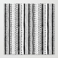 Black and White Pattern 2 Canvas Print