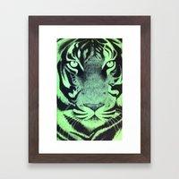 Be A Tiger (Green) Framed Art Print