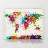 Map Of The World Map Pai… Laptop & iPad Skin