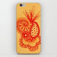 Red Arabesque iPhone & iPod Skin